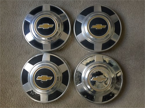 Chevy truck hubcaps