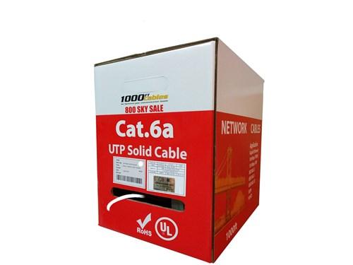 Cat6A Plenum Solid Copper