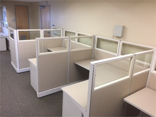 Used HM glass cubes