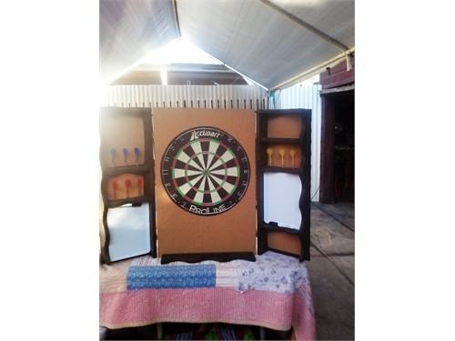 Custom dart board & cabnt