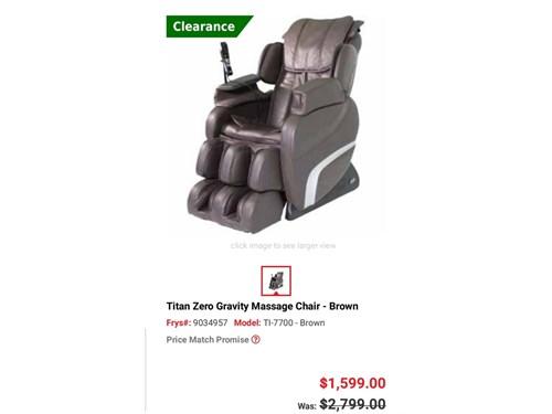 Massage Chair - Zero Grav