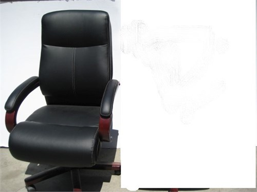 LEATHER WOOD DESK CHAIR