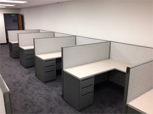 Used Kimball cubicles