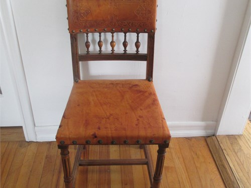 Leather cove chairs