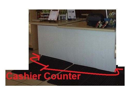 Front Desk Counter $240