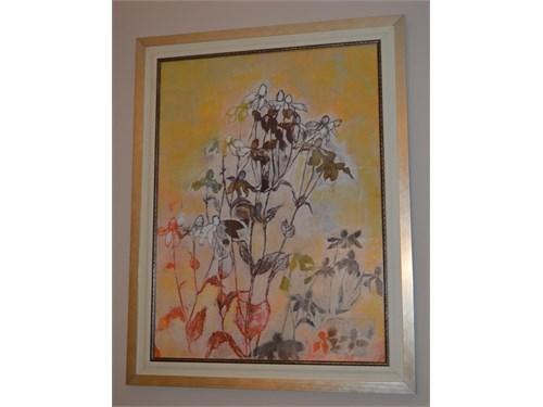GOLD FRAMED FLORAL ART