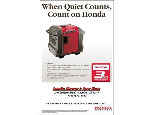 Honda Generators EU3000is