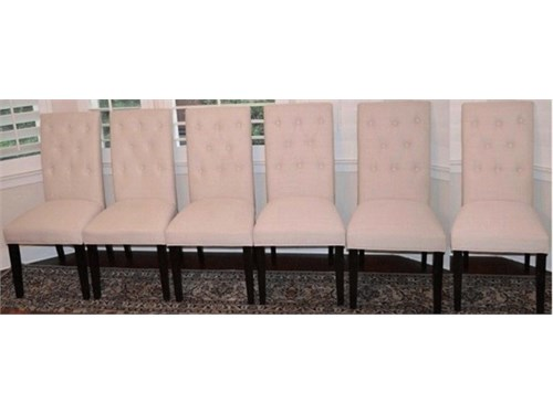 DINING CHAIRS SET OF SIX