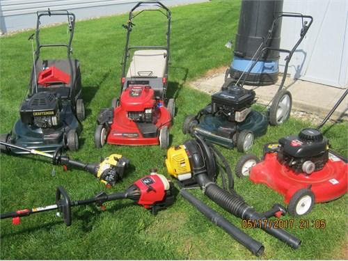 Lawn mowers-used