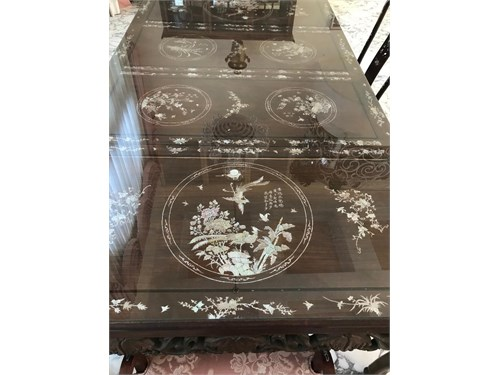 Mother of Pearl Table Set