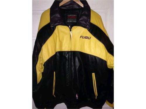 fubu leather laker jacket