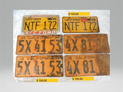 Ca lic plates & tags