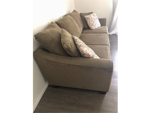 Olive green sofa 3 seater