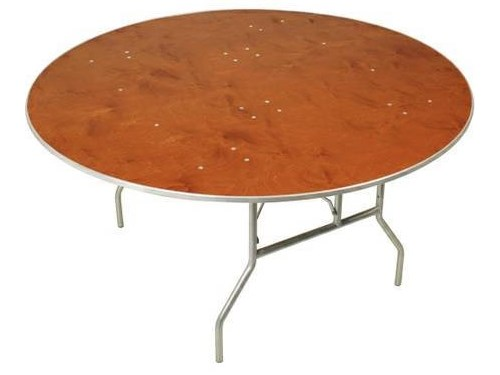 ROUND WOOD FOLDING TABLE