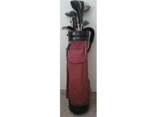 Golf Bag,Clubs, Pull Cart