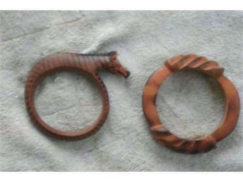 (2) Wooden bracelets