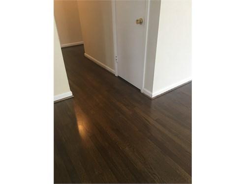 Hardwood floor finishing