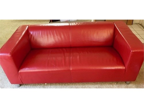 Nice Red Leather Couch