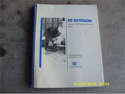 ACI concrete cert. book