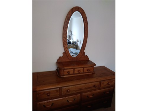 Solid Oak Antique Dresser