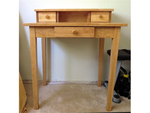 NEW HARDWOOD WRITING DESK