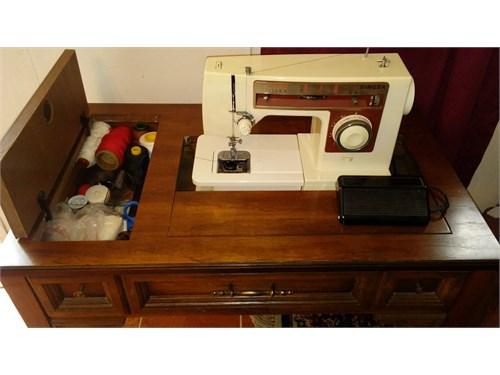 sewing machine & consol