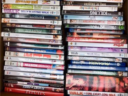 DVDs for sale $.50 each