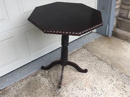 Octagon Pedestal Table