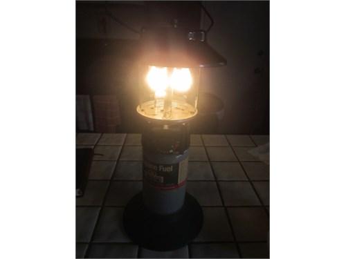 Coleman lantern with case