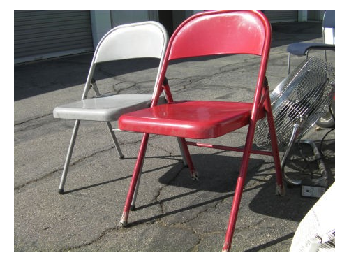 Lot of (2) Steel chairs