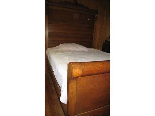High Headboard Oak Bed