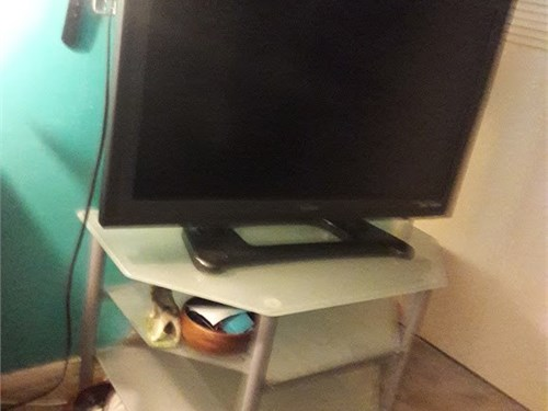3 level  glass tv table