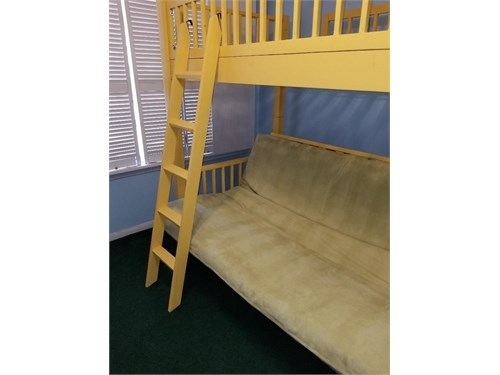 Futon and bunk bed combo