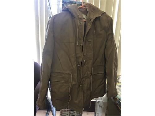 winter brown jacket