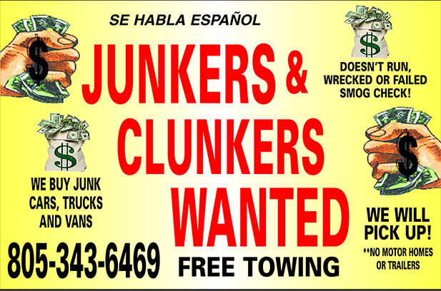 Junkers and Clunkers Wanted Doesnt Run- Wrecked- Failed Smog Check  We buy junk cars trucks and