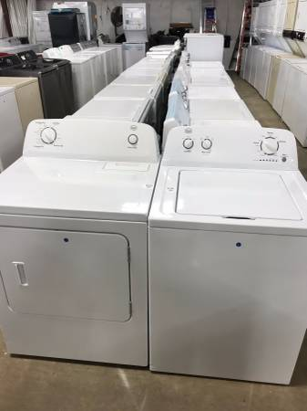 Used  washer and dryer set in great condition comes with warranty that covers parts and labor