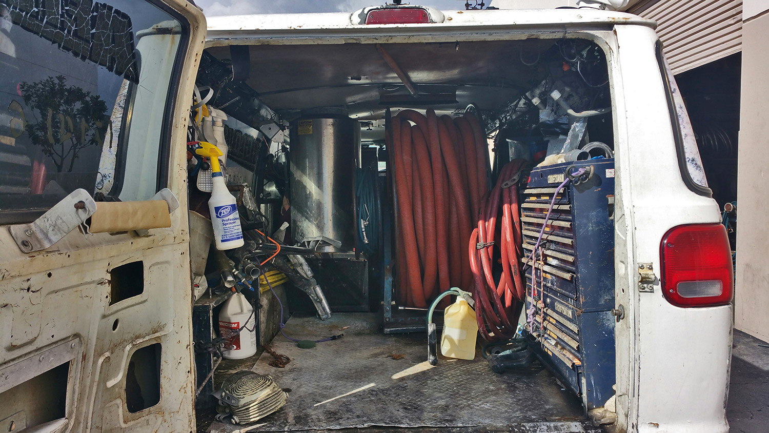 Carpet Cleaning TruckMount Van