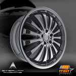 20 MST Tires  Wheel Package  A Combination Of Black And Chrome Put Together  Available For Most