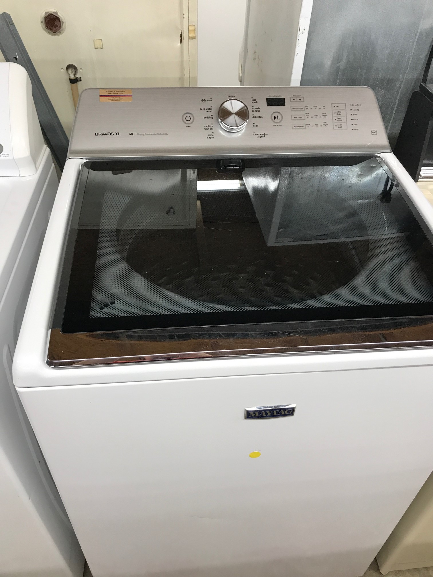 Very nice refurbished Maytag XL at Howards Appliance comes with 90 day warranty on parts and labor