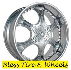 22' Chrome Garzario Wheels
