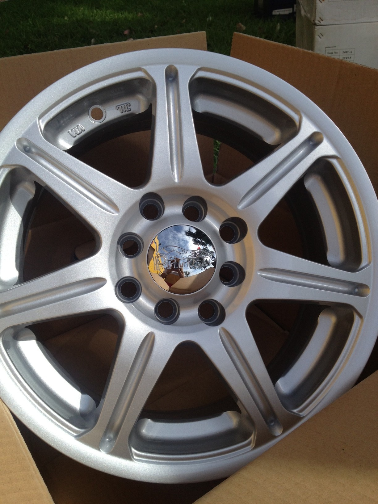 14 Silver wheel from Primax533 Bolt Pattern 4x100  4x114 All four wheels for 300 We offer fi