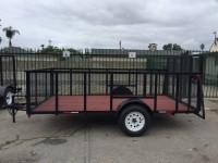 35 ft tongueTrailer weight 1000lbs2 inch ball12 ft longSingle axle 3500 lb rated 4ft