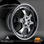 22 WHEELS MST BLACK CHROME OR NEWEST STYLE THAT JUST CAME ITS A COMBINATION OF BLACK WITH CHROME