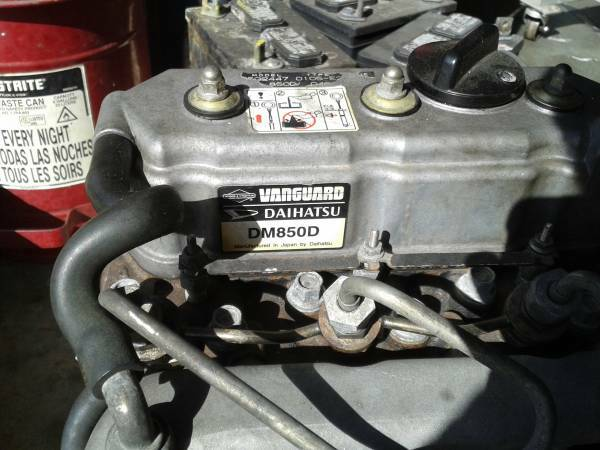 BRIGGS  STRATTON VANGUARD DIESEL ENGINE DM850D 3-CYLINDER FULLY REBUILT AND WARRANTED5500Pow