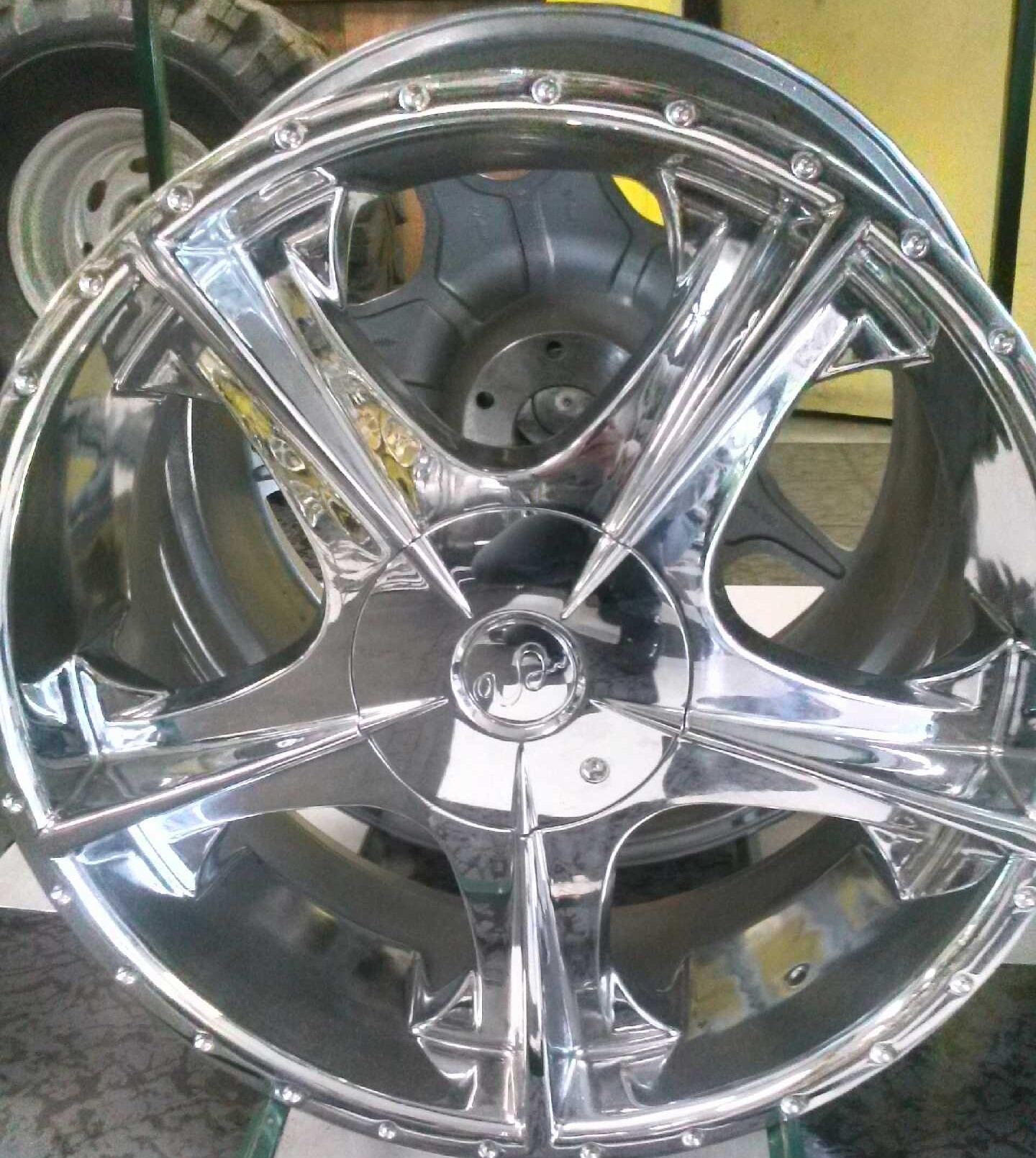 22 Chrome wheel from U2 Bolt Pattern 6x139  6x114 All four wheels are on sale for 799 We offe
