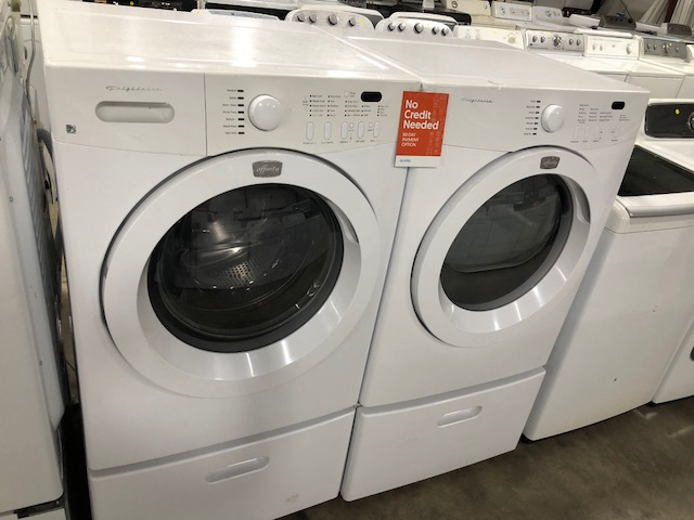 Howards Appliance on broad street has a very nice refurbished frigidaire front load washer and drye