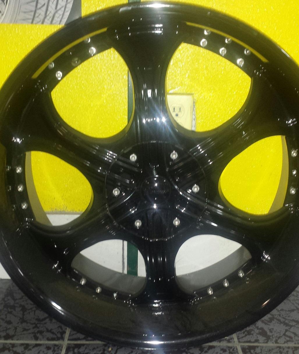Special on wheels 22 Gazario Model 710 22x105 6x139 Black Rims  Offset 35 Blank to drill most car