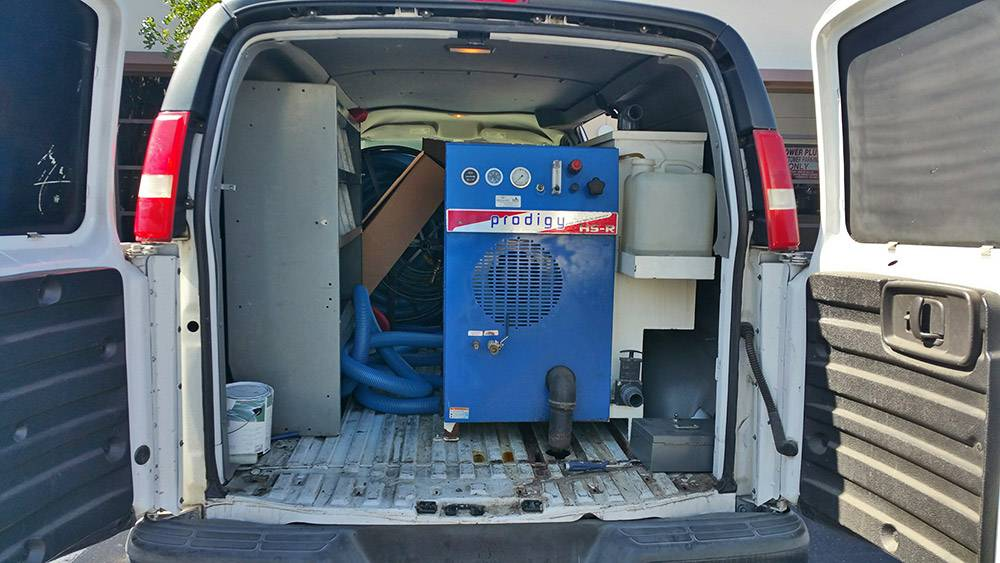 Prodigy High Pressure Truck Mount Carpet Cleaning Machine with a good VanThis unit is in a full