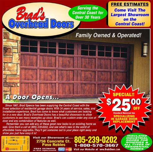 Garage Doors by Brads Overhead Doors- Free Estimates Specializing in Garage Door Replacement Spec