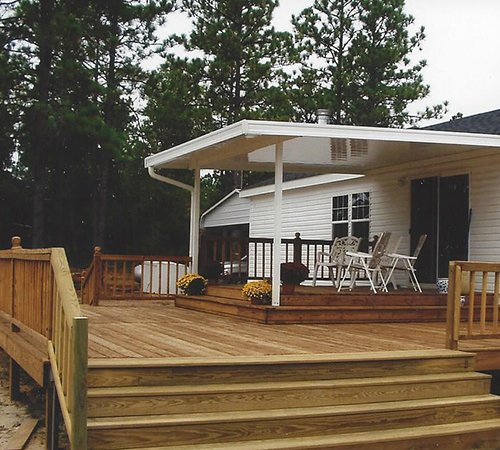 Custom Patio to compliment your deck Call 877 256 2829